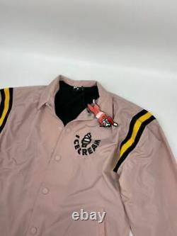 New Ice Cream mens Team Player jacket Sz L pink U656