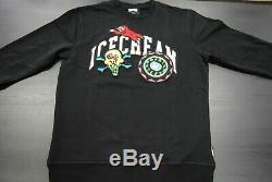New Men's Icecream 491-7307 Cunningham Crewneck Sweat Shirt Black