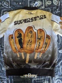 New WWE Ice Cream Bar Jacket L WWF Superstars Retro Chalkline Macho Warrior Rude
