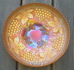 Northwood Grape & Cable Marigold Carnival Glass Large Ice Cream Bowl