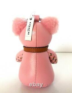 Nwt Coach F26574 Pink Ice Cream Sundae Bear Charm Key Chain