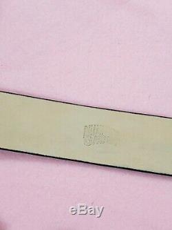 Og BBC Diamond & Dollar Embossed Patent Leather Belt Size Large Ice Cream