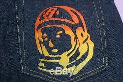 Og BBC Ice Cream Astronaut Gradient Embroidery Raw Denim Jeans Size L 36-31