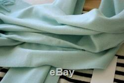 Quality 100%pure cashmere large scarf/shawl 61x180cm ice-cream green NEW