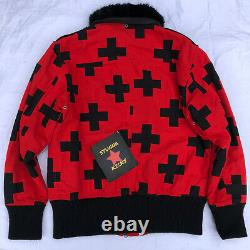 RARE Billionaire Boys Club RED CROSSES Jacket Mens size L BBC Ice Cream bape mcm