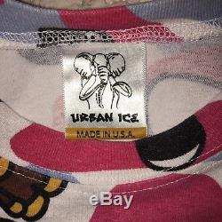 Rare Bape Kaws Classic Long Sleeve Shirt USA Ice Cream Billionare Boys Club L