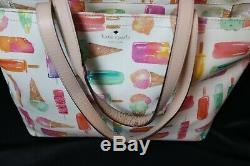 Rare Kate Spade New York Ice Cream Popsicles'Flavor of the Month' Francis Tote