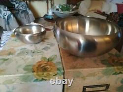 Set 6 small and 1 large Bowls Alessi Ice Cream or Fruitsalad, Stainless Steel