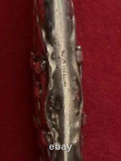 Sterling Silver Whiting Lily Of The Valley Large Ice Cream Slicer Blunt End