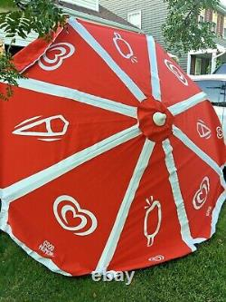 Sun Shade 8 Large Beach Umbrella Good Humor Ice Cream Vintage Vendor Cart Patio