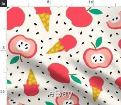 Tablecloth Summer Apple Pink Jumbo Ice Cream Fruit Bedding Cotton Sateen