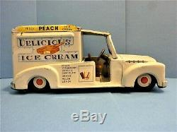 VINTAGE ICE CREAM TRUCK, MADE IN JAPAN CIRCA LATE 50s or EARLY 60s, MEDIUM-LARGE