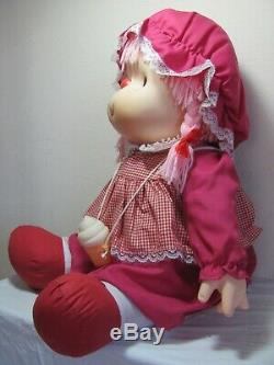 VINTAGE NEW 1980s LARGE 24 TALL PINK ICE CREAM CHARACTER GIRL DOLL TOY RARE