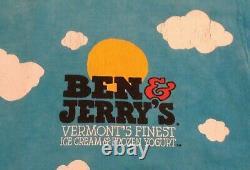 VTG 1990's LIQUID BLUE BEN & JERRY'S EUPHORIA ICE CREAM ALL OVER PRINT T SHIRT