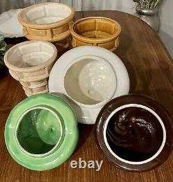 Vintage 1960's Soft Serve Ice Cream Cone Ceramic Cookie Jar Set