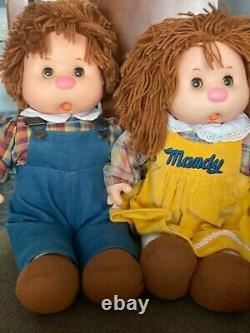 Vintage 1983 Large Ice Cream Thumb Sucking Dolls by The Mitchell Co Set of Two