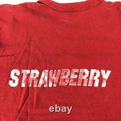 Vintage 70s Haagen Dazs Strawberry Ice Cream USA Vintage Snack T Shirt Size L