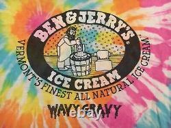 Vintage BEN & JERRY'S Wavy Gravy ice cream tie dyed t-shirt Grateful Dead L