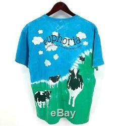 Vintage Ben And Jerry's Euphoria Tie Dye Cow T-Shirt Ice Cream Mens Large