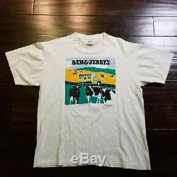 Vintage Ben & Jerrys Vermonts Finest Ice Cream T Shirt Size Large Chunky Dunky