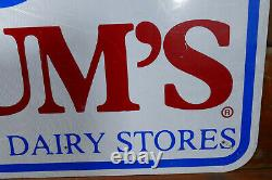 Vintage Braums Ice Cream & Dairy Store LARGE 48 Highway Advertising Sign