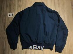 Vintage Breyers Good Humor Ice Cream Men Jacket Navy Blue HILTON Company Large L