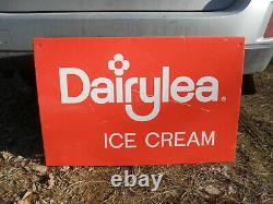 Vintage Dairylea Ice Cream Large 34 X 22 Milk Dairy Farm Store Tin Sign