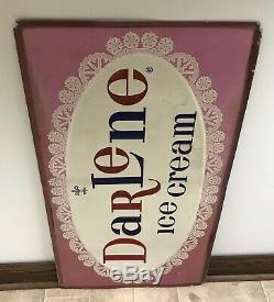 Vintage Darlene Ice Cream Large Metal Sign Dolly Madison Snacks Brand (rare!)