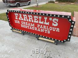 Vintage Farrell's Ice Cream Parlour Large Display Light Sign
