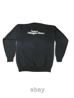 Vintage HAAGEN DAZS Ice Cream Team Members Crewneck Sweatshirt Size Large Black