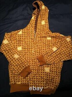 Vintage ICE CREAM Billionare Boys Club Waffle Hoodie Sweatshirt Reversable