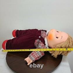 Vintage Ice Cream Doll 1980 J Shin Boy Doll Collectible LARGE 26 NO NECKLACE