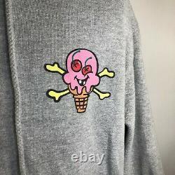 Vintage Ice Cream Pharrel BBC Full Zip Graphic Hoodie Mens Large Gray Pink RARE