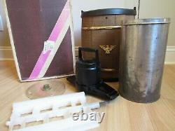 Vintage LARGE 6 Qt. Electric Ice Cream Maker Freezer 7231 wood NICE & WORKS