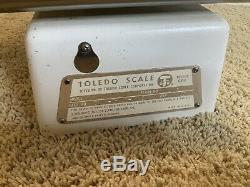 Vintage Large 19TOLEDO CANDY ICE CREAM SCALE 2 LB Model # 3111 1961 Very Clean