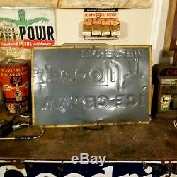 Vintage Large 3ft x 2 ft Moores ice cream sign
