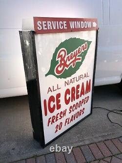 Vintage Large Breyers Ice Cream Dairy Lighted Sign