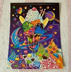 Vintage Lisa Frank Galactic Ice Cream Sundae Stars Space Large Jumbo Sticker