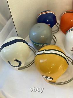 Vintage Lot (18)1974 Laich NFL Plastic Football Team Helmet Ice Cream Cups