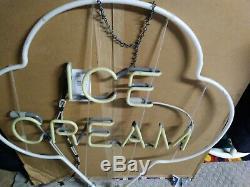 Vintage Neon Ice Cream Sign LARGE 36 X 32