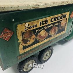 Vintage Original Buddy L Railway Express Ice Cream Milk Truck Large 22 Long