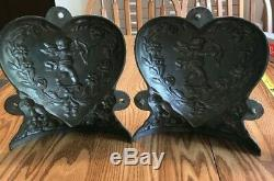 Vintage Pewter Ice Cream Mold E & Co. NY, Large Detailed Heart #198 Very RARE