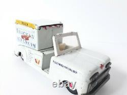 Vintage large Ahi Ice Cream Truck, tin friction toy, Japan 1960's- SUPERB